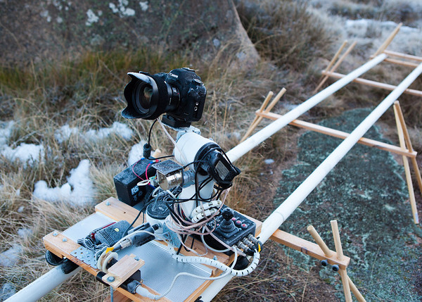Timelapse gear for lunar eclipse, Mt Buffalo, 16th June 2011.