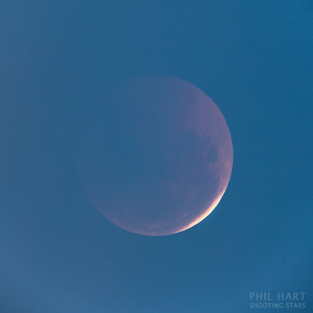 Lunar Eclipse ending in twilight, Mt Buffalo, 16th June 2011.